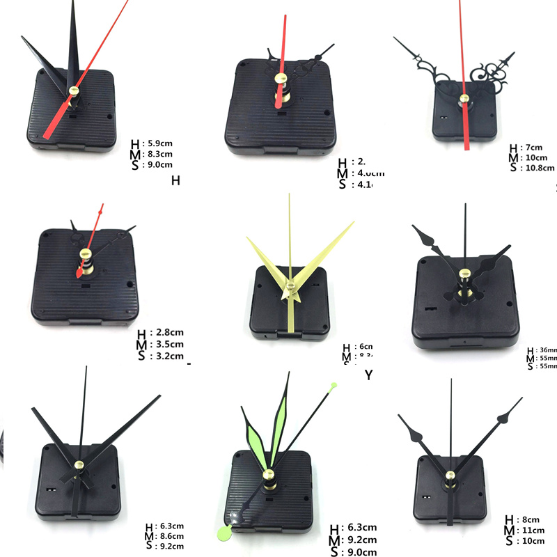 Hanging DIY Quartz Watch Silent Wall Clock Movement Quartz repair Movement Clock Mechanism Parts with needles 1 set new