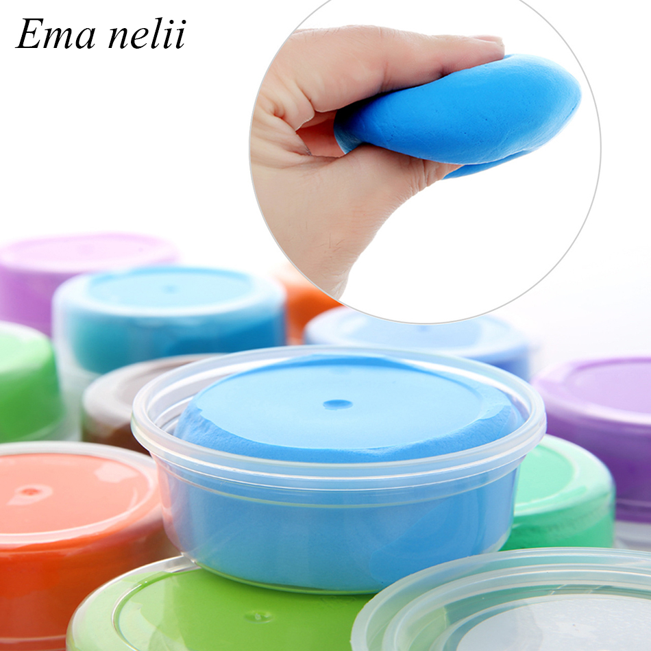 1PC Random Color Colored Modeling Clay Slime Toy Light Clay/ Air Dry Polymer Plasticine DIY Handmade Art Toys For Children Gifts