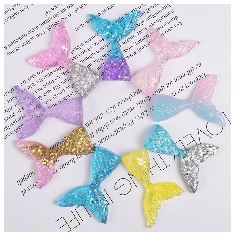 Mermaid Tail Charms For Slime Diy Polymer Filler Addition Slime Accessories Toys Lizun Powder Modeling Clay Kit For Children