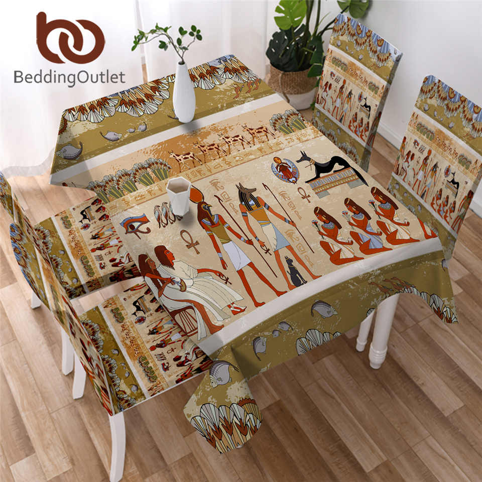 BeddingOutlet Africano Tovaglia Copertura di Tabella Geometrica Etnica Multi Funzionale Egiziano Panno Impermeabile Tavolo Per Esterni Casa