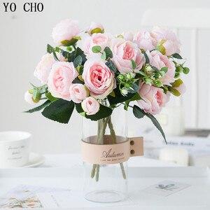 Image 5 - Hình CHO 6 Đầu/Bó Hoa Mẫu Đơn Nhân Tạo Hoa Lụa Hoa Mẫu Đơn Hoa Trắng Hồng Cưới Trang Trí Nhà Cửa Giả Hoa Mẫu Đơn Hoa Hồng hoa