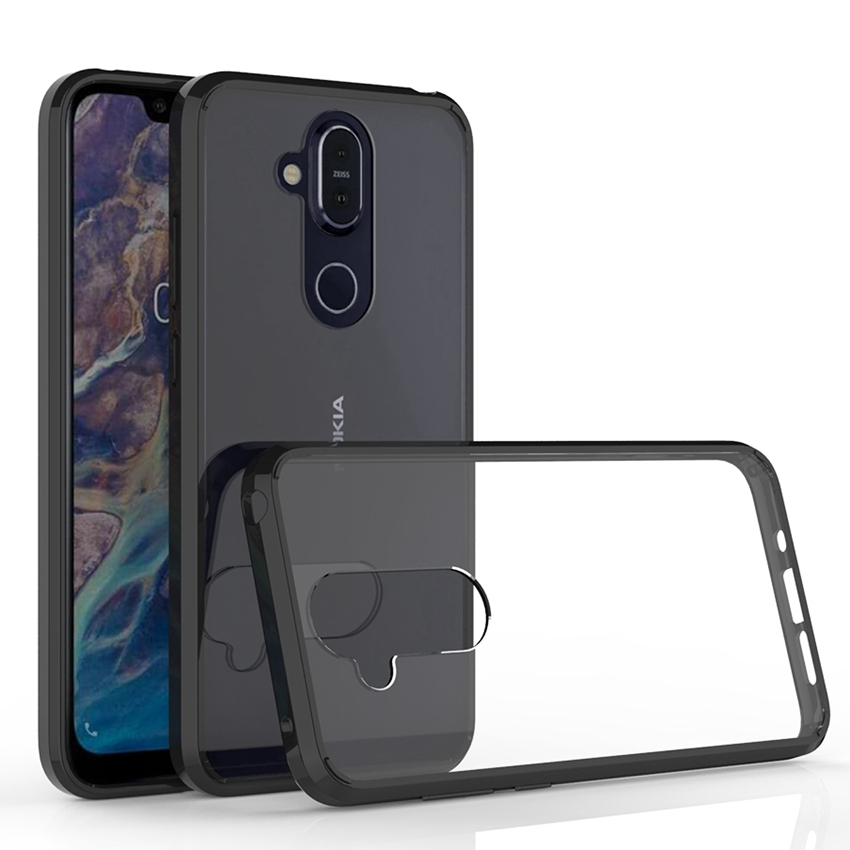 Soft <font><b>Silicon</b></font> TPU/PC <font><b>Case</b></font> For <font><b>Nokia</b></font> X7 Protective Fundas Coque Shockproof Crystal Clear Shell Hard Back Cover For <font><b>Nokia</b></font> <font><b>8.1</b></font> <font><b>Case</b></font> image