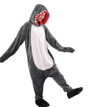 Shark Pajamas Animal Women Men Kigurumi Zippers Cartoon Onesies For Adults One-Piece Pijamas Novetly Jumpsuit Cosplay Costume