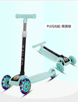 Foldable 3 Wheel Children Scooters Adjustable Height Aluminum Alloy Scooter with Flash Wheel Skateboard for Kids Ride on Toys
