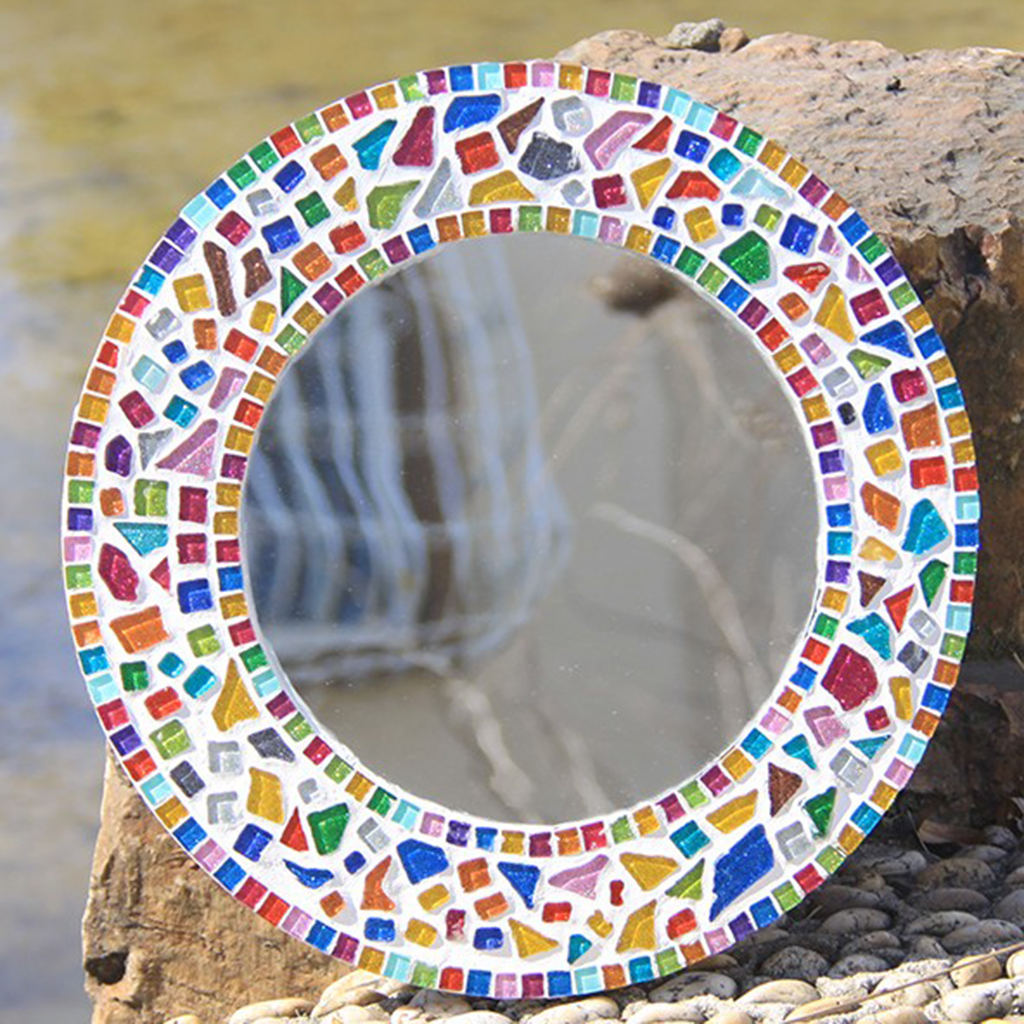 F Fityle 220pcs Colorful Rectangle Glass Pieces Mosaic Tiles Tessera for Crafts DIY