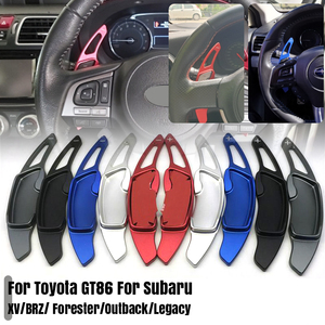Pair Steering Wheel Gear Shift Paddle Shifter For Subaru XV BRZ Forester Outback Legacy For Toyota GT86 Paddle Aluminum Alloy