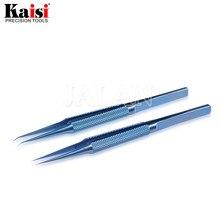 Kaisi ملاقط إصلاح احترافية ، مصنوعة من سبائك التيتانيوم ، للوحة الأم ، الهاتف الخلوي ، بصمة اليد ، خط الطيران ، ملاقط مضادة للمغناطيسية