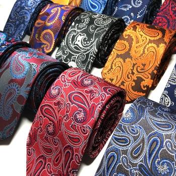 Mens Ties Classic Skinny Cashew Pattern Floral Ties For Men Casual Party Formal Business Wedding Necktie (Tie1-Tie20)