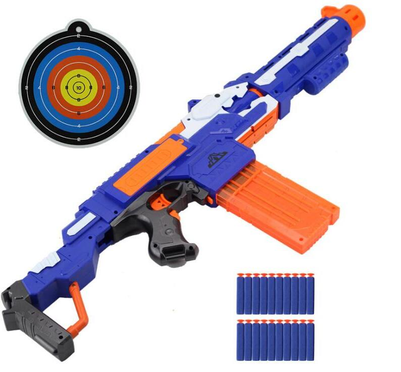 NEW Electronic Submachine Gun Toy For NERF Soft Bullet Gun Rival Elite Series Outdoor Fun & Sports Toy Gift For Kids Boys