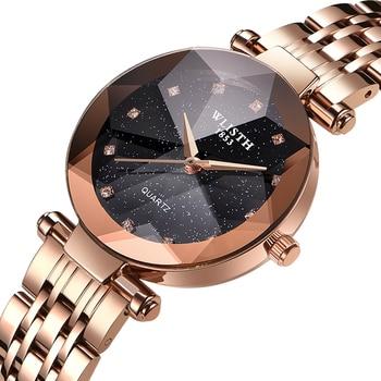 Luxury Starry Sky Women Watches Rose Gold Bracelet Magnet Mesh Band Rhinestones Quartz Wristwatch Ladies Female Diamond Watch