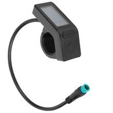 Rower elektryczny Mini wyświetlacz LCD prędkość wskaźnik zasilania baterii dla Bafang 8FUN Mid Hub silnik 24V 36V 48V e-bike tanie tanio CN (pochodzenie) DISPLAY
