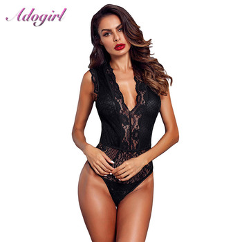 Sheer Floral Lace Bodysuit Women Sexy Hollow Out Sleeveless Bodycon Jumpsuit Night Party Club Outfit Rompers Lady body Tops 2