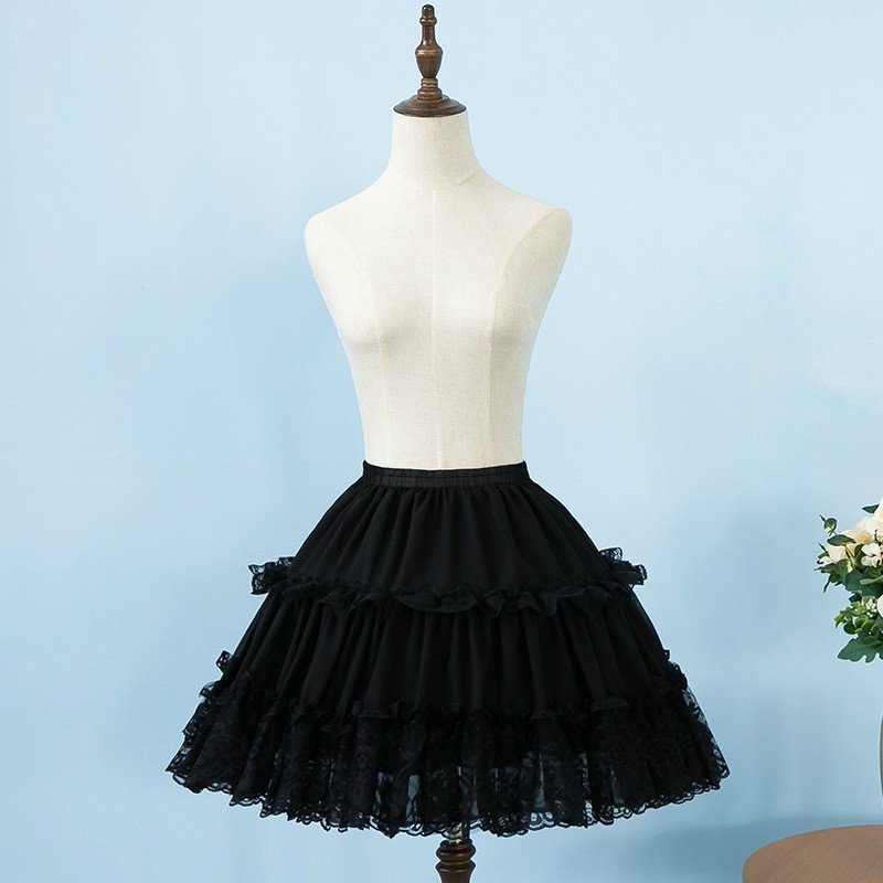 E JUE SHUNG Short Bridal Petticoats Three Layers Women Underskirt For Wedding Dresses Bride Crinoline Jupon Cerceau Mariage