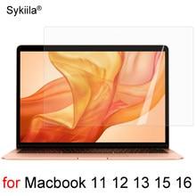 Protetor de tela hd para macbook ar 13 11 pro 13 15 16 barra de toque 12 plástico pele clara fosco filme vidro pet a2179 a2337 a2338 m1