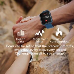 Image 5 - SENBONO w pełni dotykowy P6 pasek do smarwatcha mężczyźni kobiety zegarek sportowy pulsometr snu inteligentny zegarek do monitorowania tracker na telefon