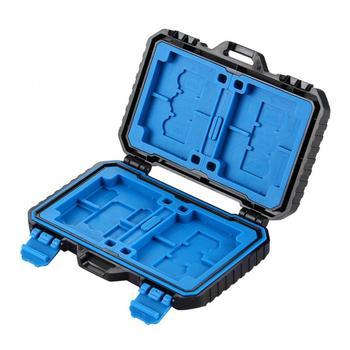 Camera TF CF SD Memory Card Case Waterproof Box Storage Holder Max 27 cards for 4CF+ 8SD+9TF+1Card PIN+1SIM+2Micro-SIM+2Nano-SIM
