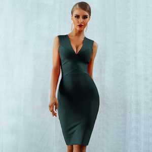 Image 4 - Seamyla 섹시한 드레스 클럽 착용 파티 드레스 2019 새로운 도착 민소매 오렌지 와인 레드 여성 붕대 드레스 Bodycon Vestidos