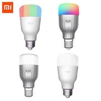 Yeelight colorido bulbo e27 inteligente app wifi controle remoto inteligente led luz rgb/temperatura colorida lâmpada romântica