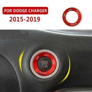 Алюминиевое кольцо для автомобильного выключателя для Dodge Charger 2015 -2019 Авто Пуск стоп кнопка Крышка отделка переключатель двигателя