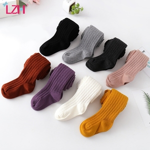 LZH 2020 Autumn Winter Tights For Girls Stockings Cotton Warm Pantyhose Toddler Kids Girls Solid Candy Color Tight 2-15 Years