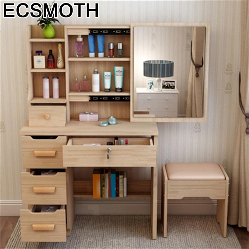 Schminktisch Vanity Toaletka Makeup Box Coiffeuse Drawer Tocador Slaapkamer Mesa Table Korean Bedroom Furniture Quarto Dresser