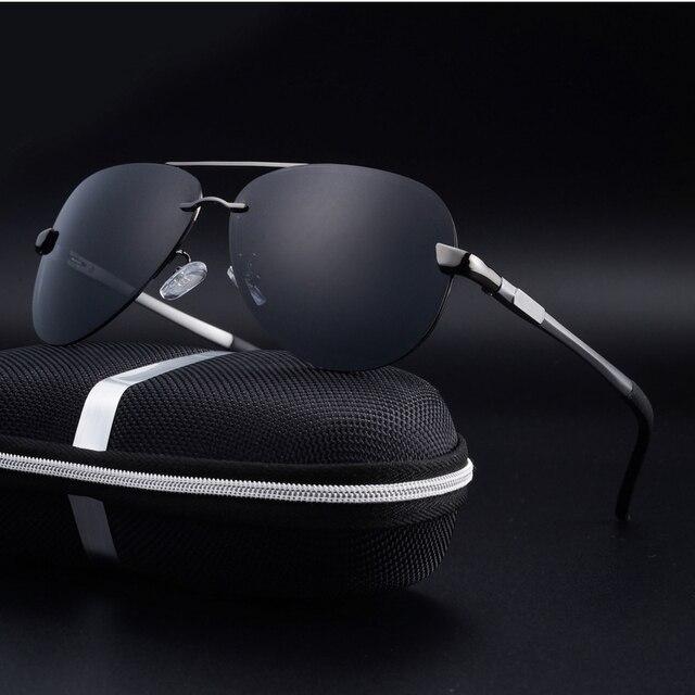 Rimless Polarized Driving Sunglasses