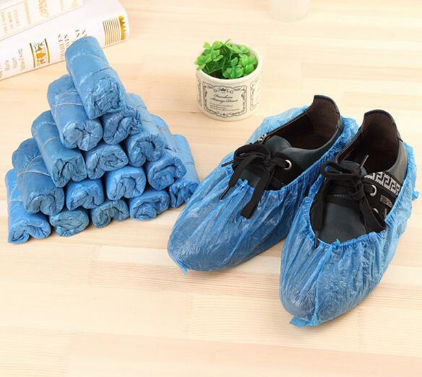 New Practical 100Pcs/set Cleaning Shoe Covers Good Elastic Plastic Carpet Overshoe Disposable Blue Home Protective Floor Gadget