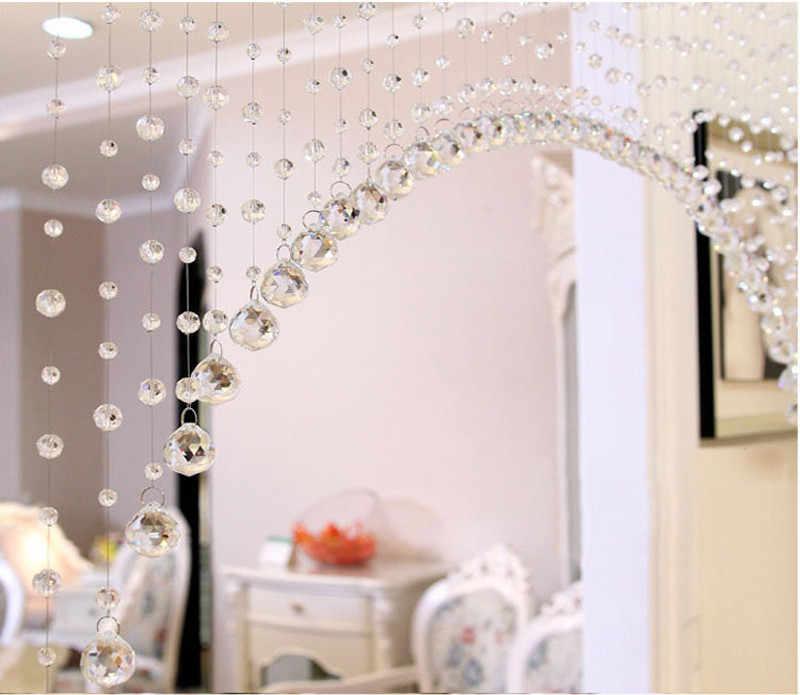 クリスタルビーズカーテンポーチパーティションドアカーテンカーテン高級ガラスビーズドア文字タッセルカーテン結婚式分周器パネルルーム装飾