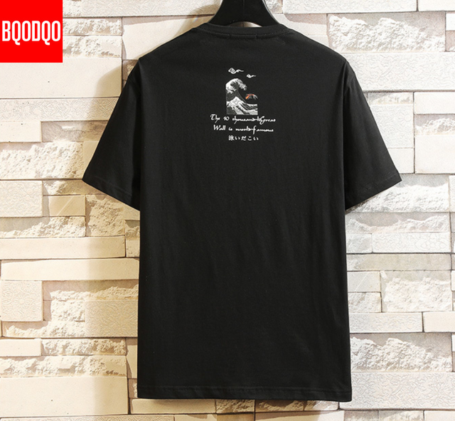 Funny Anime Print Oversized Men T Shirt Hip-Hop Cotton T-shirt O-neck Summer Japanese Male Causal Tshirts 5XL Fashion Loose Tees 2
