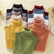 11 Colors Fall 2019 Korean Style Women Knitted Sweater Turtleneck Womens Fashion Knit with Neck Casual Pullover