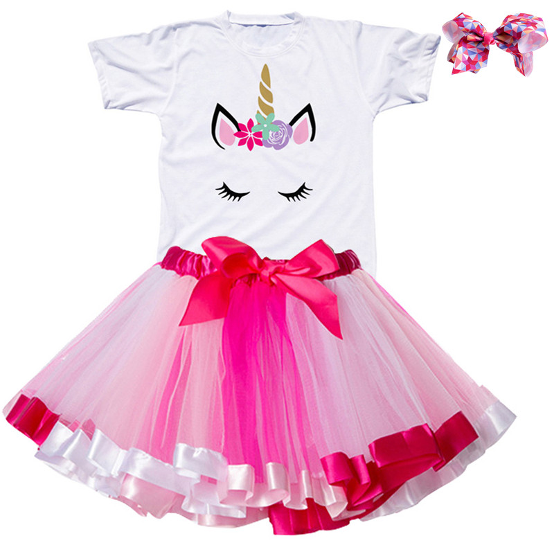 Gilrs Unicorn Princess Dress Children's Birthday Party Dresses Outfits For 2 to 6 Years Kids Girl Clothes Baby Girl Clothing 2