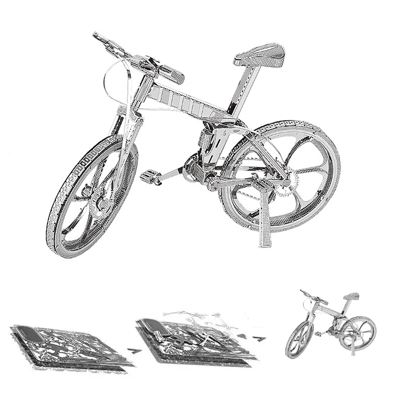 Bicycle Motorcycle Train 3D Metal Puzzle Model Kits DIY Laser Cut Assemble Jigsaw Toy Desktop Decoration GIFT For Children