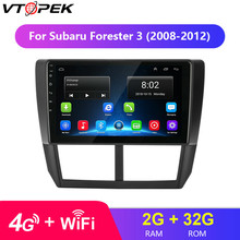 For Subaru Forester 3 2008-2012 Car Radio 9 4G Wifi Multimedia Video Player Navigation GPS Android Touch Screen NO DVD 2 Din