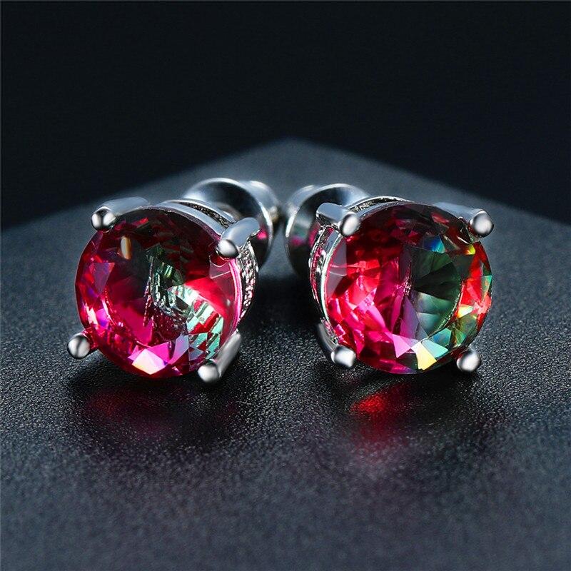 Red Green Earrings
