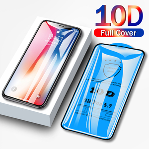 Image 1 - 10D Full coverage protective glass for iPhone 6 6S 7 8 plus X XR XS MAX glass on iphone 7 8 6 6S X XR XS MAX screen protector