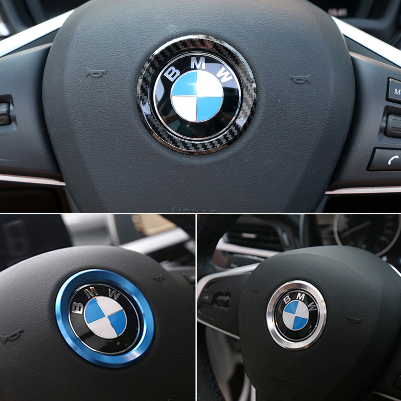 Car Styling Decoration Ring Steering Wheel Circle Sticker For <font><b>BMW</b></font> M3 M5 E36 E46 E60 E90 E92 X1 F48 X3 X5 X6 image