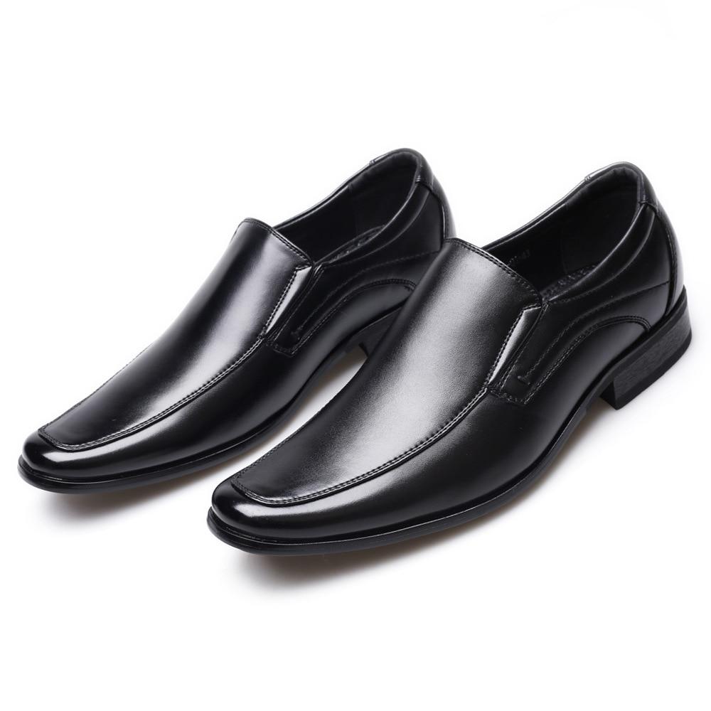 Classic Business Men's Dress Shoes Fashion Elegant Formal Wedding Shoes Men Slip On Office Oxford Shoes For Men LH100006