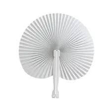 Handheld Fans Crafts Folded-Fan Paper Decoration Wedding-Party for 60pcs