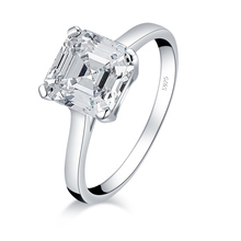 QYI 925 Sterling Silver 3 Ct Charms Simulated Diamond Couple Engagement Ring Wholesale Jewelry Ring For Women