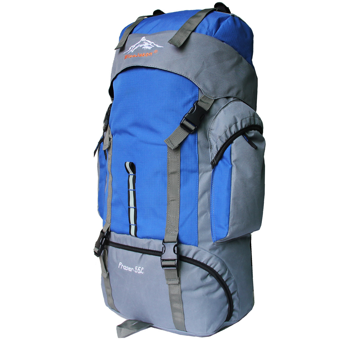 Outdoor Mountaineering Bag 55L Men And Women Hiking Double Back Sports Bag Backpack Oxford Cloth Mountaineering Bag