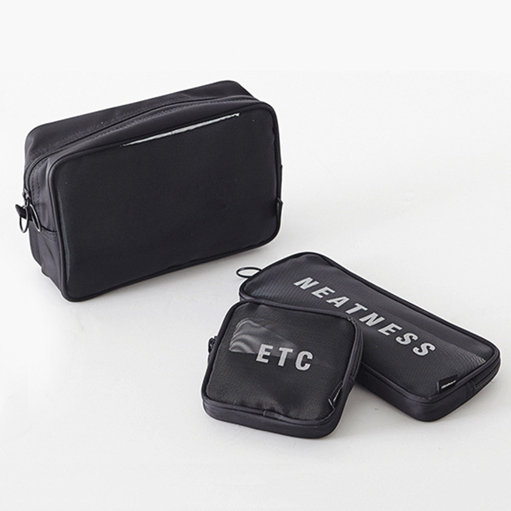 Travel Cosmetic Bag Women Men Zipper Make Up Transparent Makeup Case Organizer Storage Pouch Grids Toiletry Beauty Wash Kit Bags