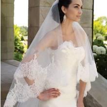 2020 mais alta qualidade longo véu de noiva com borda de lantejoulas de renda pode ser capa rosto para a noiva velo sposa pizzo