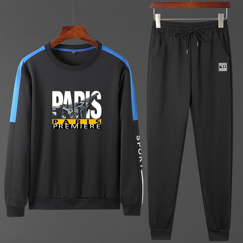 2019 New Style Autumn MEN'S Long Sleeve Sports Set Korean-style Teenager Slim Fit MEN'S Casual Suit Jogging Suits