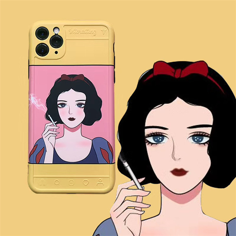 Retro Art Snow White Princess illustration Phone Case For iPhone 11 Pro Max Xr Xs Max X 7 8 Plus Cases Soft Silicone Cover