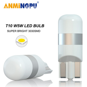 ANMINGPU Signal Lamp Led T10 Canbus 3030SMD 168 194 W5W Led Bulbs Auto Clearance Lights Led Reading Interior Light White 12V