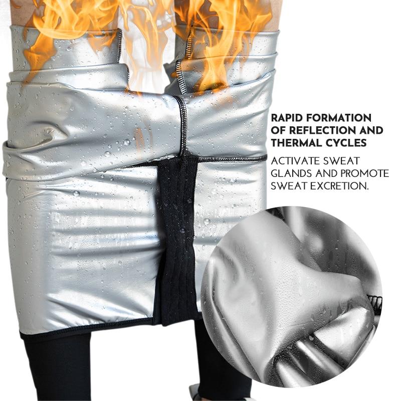 Scarpe da ginnastica in vita pantaloni da Sauna per il sudore Body Shaper pantaloni dimagranti allenatore in vita da donna Tummy Hot Thermo Sweat Leggings allenamento Fitness 1