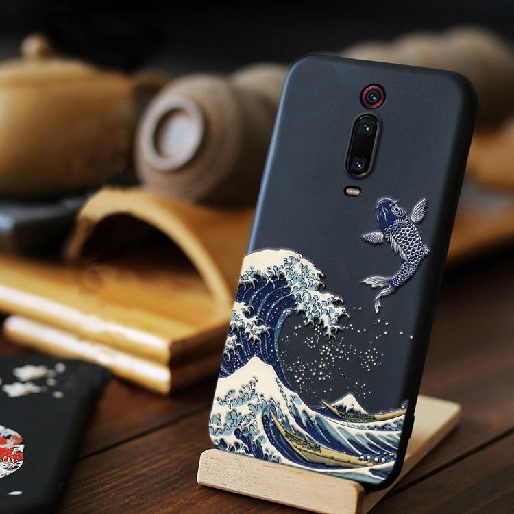3D Phone Case For Xiomi Xiaomi Mi 9T 9 T Mi A3 Mi Note 10 lite Pro Mi 10 Pro Ultra Case Cover For Redmi 9 8 8a 7a 9a Case Black(China)