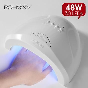 ROHWXY secador de uñas para uñas lámpara LED UV 36/48W Lámpara USB para uñas para manicura pantalla LCD secado de todos los geles uñas pulidas herramientas de arte