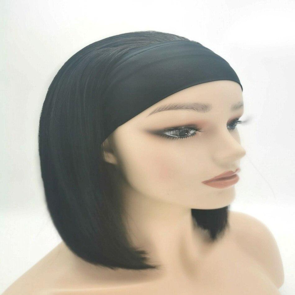 100% Human Hair Headband Wigs Extension Straight Bobo Wave Headband Hair Wigs Brazilian Virgin Remy Human Hair Wigs For Beauty