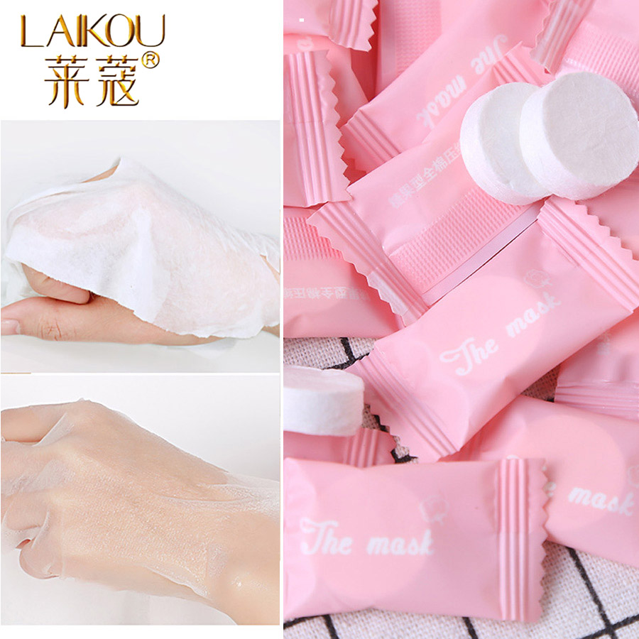 Compressed Face Mask Paper Disposable Facial Masks Papers Natural Skin Care Wrapped Masks DIY Women Makeup Face Beauty Tool